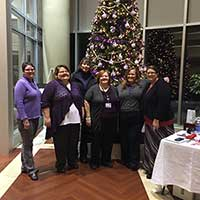 The Tree of Hope, located inside the hospital lobby, is adorned with personalized Christmas ornaments.